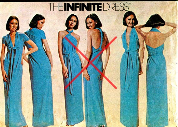 Платье трансформер как завязать схема